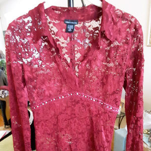Moda Lace top with bead trim